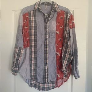 Free People Pattered Button Down